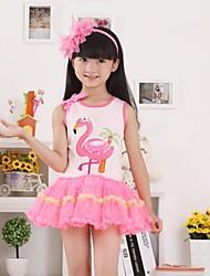 vestido de flamenco rosa de niña