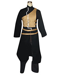 Inspired by Naruto Gaara Anime Cosplay Costumes Cosplay Suits Patchwork Black Long Sleeve Coat / Vest / Pants / Belt
