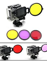 58mm sous-marine professionnelle de correction des couleurs kit de filtre de plongée w / convertisseur pour hero3 GoPro