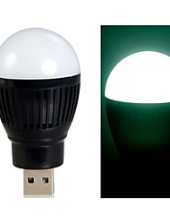 Ball Bulb Shaped Super Bright USB Powered Mini LED Night Light (Black)