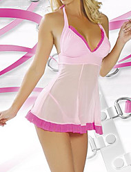 Sweet Girl Pink Lace and Satin Sexy Uniform