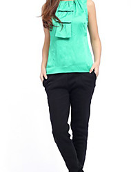 New Style Fashionable Sleeveless Casual Blouse Green