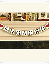 "Wedding Décor "" ENGAGED"" Chic Vintage Classic  Party Banner Buntings"