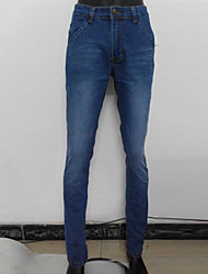 Men's Solid Casual / Work Jeans,Denim Blue