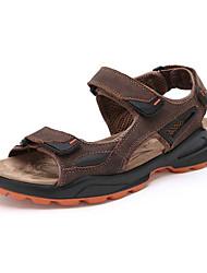 Zapatos de Hombre - Sandalias - Casual - Piel Sintética - Marrón / Caqui