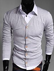bodycon de la moda de manga larga de color sólido cardigan de ITT hombres