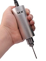 NEJE DIY Stainless Steel Micro Electric Hand Drill with Drill Bit Set