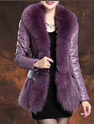Women's Fashion Elegant Goatskin Fox Fur Outerwear (More Colors)