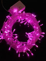 10m 9.6w kerst flash 100-led roze licht strip licht lamp (eu stekker, AC 220V)
