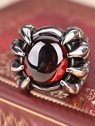 Ring,Steel Imitation Ruby Birthstones Jewelry Statement Rings