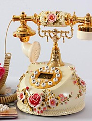 Europe Style Polyresin Material Home Decor Telephone with ID Display