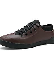 Scarpe da uomo Casual Pelo di vitello Sneakers alla moda Nero/Marrone/Verde/Blu scuro