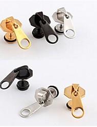europei orecchini in acciaio al titanio cerniera testa (nero, argento, oro) (1 pz)