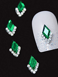 10pcs   Green Marquise 3D Rhinestone DIY Alloy Accessories Nail Art Decoration