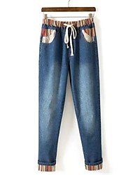 Women's Multi-color Denim Pant , Casual