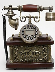 Europe Style Polyresin with Wooden Material Home Decor Telephone with ID Display