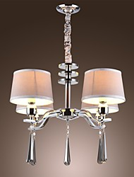 40W Chandelier ,  Modern/Contemporary / Traditional/Classic / Rustic/Lodge / Vintage / Island Chrome Feature for Crystal MetalLiving Room