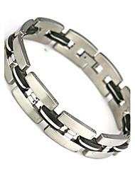 moda envoltório charme pulseira Pulseira Pulseira 304 dos homens de aço inoxidável