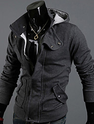 Fleece Zipper Stand Color Pullover