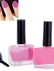 1PCS Nail Polish& 1PCS Caviar Top Coat Light Pink Nail Decoration Nail Art Set