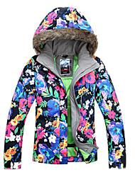 Women's Ski Ski/Snowboard Jackets Waterproof / Breathable / Wearable / Windproof / Thermal / Warm Black / Blue / Others / FuchsiaSkiing /