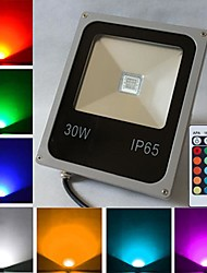 30W 1 High Power LED 2400 LM RGB Remote-Controlled LED Flood Lights AC 85-265 V