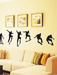 pegatinas de pared Tatuajes de pared de estilo deportivo patineta adhesivo decorativo