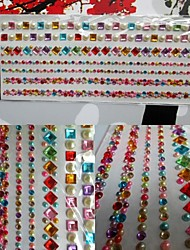 2 sheet/set Rhinestone Mixed Color Self Adhesive Scrapbooking Stickers