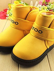Boy's / Girl's Boots Winter Fashion Boots Leatherette Casual Flat Heel Blue / Yellow / Green / Orange