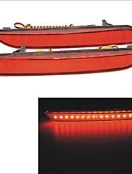 luces carking ™ 12v traseros parachoques reflector de freno para un ajuste 2011 - (2pcs)