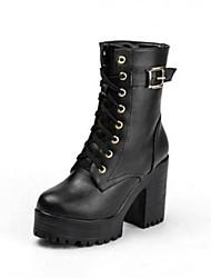 botas de los zapatos de moda de la mujer botines de tacón grueso