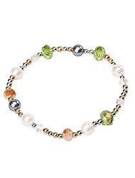 Women's Fashion Crystal and Pearl Bracelet