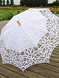 "Wedding Cotton Umbrella Post Handle 26.8""(Approx.68cm) Wood 30.7""(Approx.78cm)"