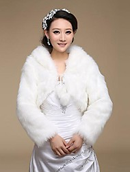 Wedding  Wraps / Fur Wraps Coats/Jackets Long Sleeve Faux Fur Ivory Wedding / Party/Evening Lace-up
