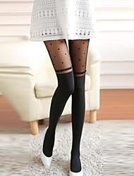 sexy padrão de coração o amor das mulheres com bowknot meia-calça apertada