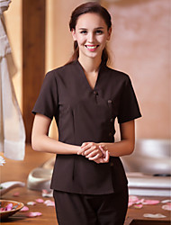 SPA Uniforms Women's Short Sleeve Crossover Collar Beauty Tunic