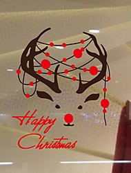 Wall Stickers Wall Decals,  Modern Christmas deer PVC Wall Stickers