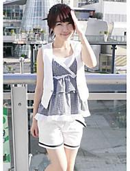 Verão populares calças curtas casuais branco