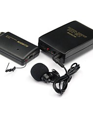 Wireless FM Transmitter + Receiver Set w/ Mini Clip Microphone