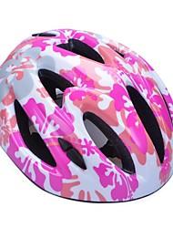 moda cómoda seguridad + eps 11 orificios de ventilación niños 'integralmente moldeadas por el ciclismo casco - rosa + plata
