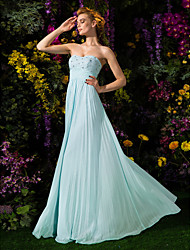 2017 Sheath/Column Sweetheart Floor-length Chiffon Evening Dress