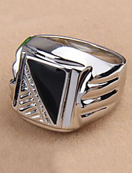 Korean Style Enamel Men's Statement Ring Jewelry