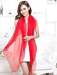 женская красная шифоновый шарф