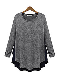 Mokio Women's Korean Fashion Causal Thick Chiffon Long Sleeve Tshirt