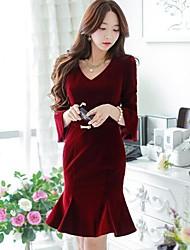 vestido que adelgaza ol elegante de la moda de las mujeres dabuwawa