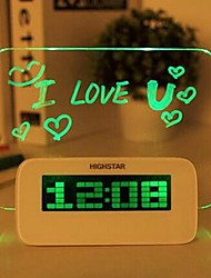 Creative Message Board Luminous Glass Electronic Alarm Clock
