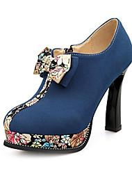 Damenschuhe Plattform runde Kappe Blockabsatz Stiefeletten Beflockung mehr Farben erhältlich