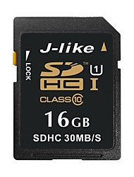 J-Like 16Go Classe 10 / UHS-I U1 SD/SDHC/SDXCMax Read Speed30 (MB/S)Max Write Speed15 (MB/S)