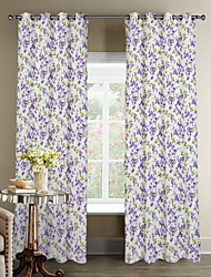Fresh Floral Pastoral Style Curtain (Two Panels)