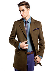 Slim Notch Lapel Outwear In Wool-cashmere